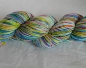 Hand Dyed Yarn, Sock Yarn_Texas Wildflower