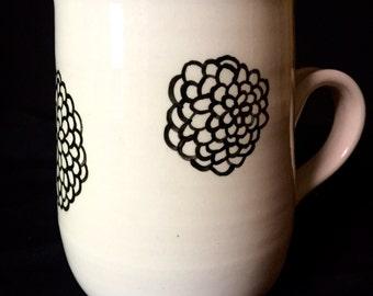 Hydrangea Mug Handpainted on Porcelain