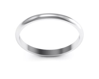 Stainless Steel 2mm Ring Band.