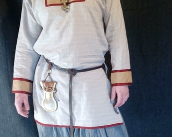 Early medieval Viking linen shirt, Viking Costume, Reenactment