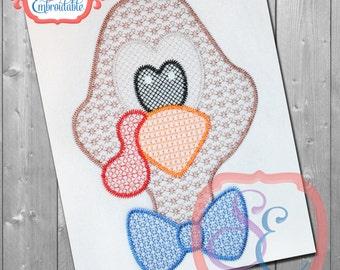 MOTIF Boy TURKEY HEAD Design For Machine Embroidery