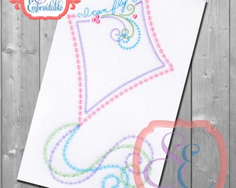 I Can Fly KITE Design For Machine Embroidery INSTANT Download