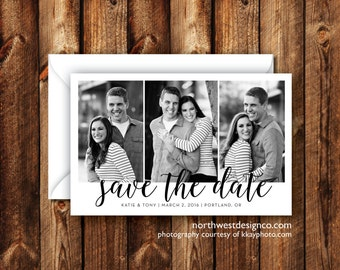Save the Date Announcement Photo Card Save our Date Picture Card 5x7 Elegant Modern Boho Digital File or Printed