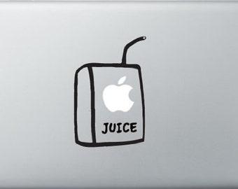 Macbook Sticker Apple Juice