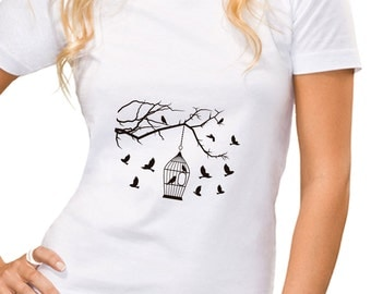 Tshirt women bird