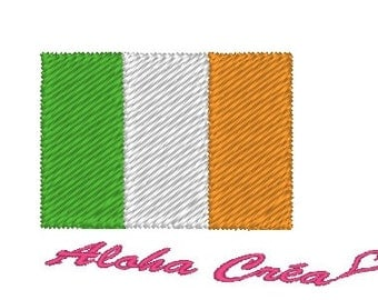 Machine embroidery pattern Irish Flag - Ireland - instant download