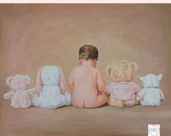 3 Subjects. Baby Custom Portrait. Child Custom Portrait.Personalized Portrait.Custom Oil Painting.Child Custom Portrait from Photo. 7 Sizes.