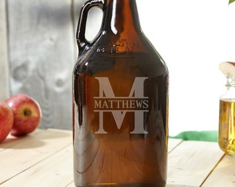 Personalized Beer Growler with Oakmont Design - Unique Beer Gifts for Guys with Custom Text - Best Idea for Dad and Beer Lovers