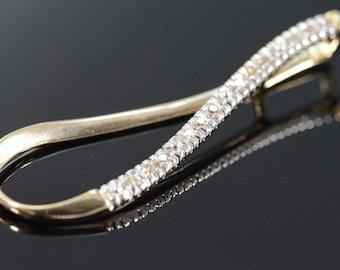 10K 0.12 CTW Diamond Tear Drop Pendant Yellow Gold - EM1766