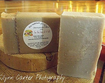 Handcrafted natural goat milk and oatmeal soap