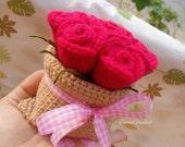 Crochet Rose Bag,bouquet of roses,crochet garland,kawaii crochet,Amigurumi flower