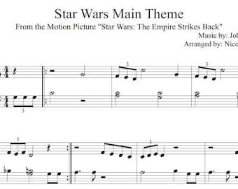 Star Wars Main Theme Beginner Sheet Music