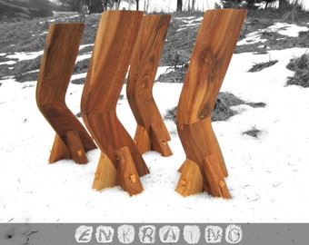 Walnut coffee table legs wood table legs table for Interesting table legs