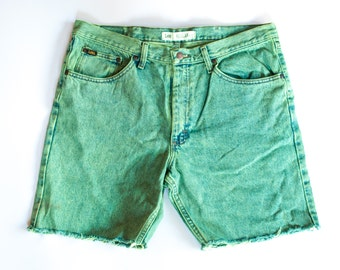LEE DENIM NEON dyed cutoff shorts size 38