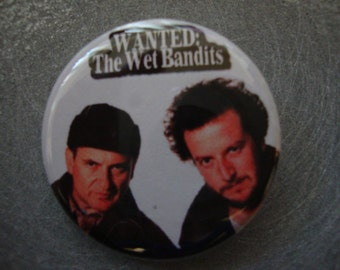 The Wet Bandits Home Alone Pinback or Magnet