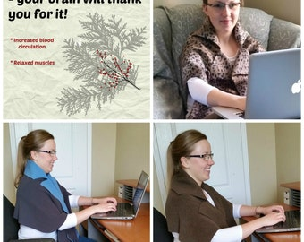 Office Neck Warmer- Simple Cut Out of Fleece! Pattern and Picture Instructions. No Sewing! - !!!The Best Gift You can Make for Christmas!