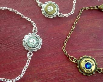 Bullet bracelet or anklet