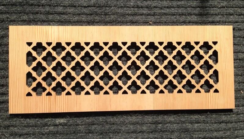 decorative vent cover hvac register laser cut clear fir
