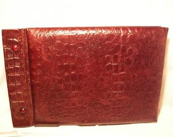 Vintage 1990's Dark Red Eco Leather Photo Album - NEW
