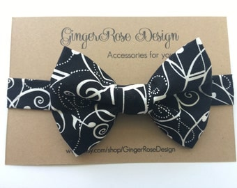 Music Notes Bow Tie; Sheet Music Bow Tie; Musician Bow Tie; Toddler Bow Tie; Baby Bow Tie; Boy Bow Tie; Black and White Bow Tie