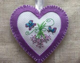 hand sewn lavender heart