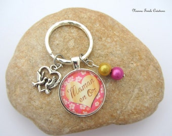 Key chain for mom, key chain,Gift, idéa for mom, gift for mom, bag jewelry