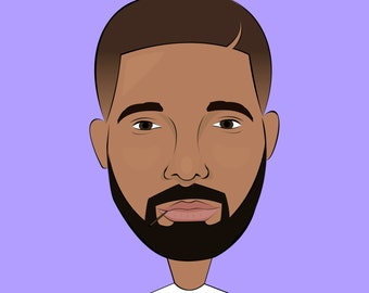 Drake Illustration A4 Poster