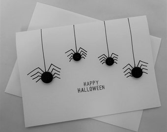 Happy Halloween Card, Spider Card,Childrens Card
