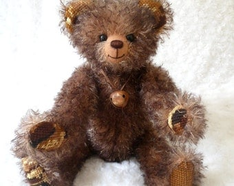 Bekkiebear OOAK artist teddy bear Donnie mohair