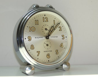 Vintage Bayard Stentor mechanical alarm clock VINTAGE
