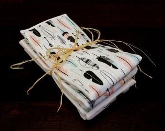 Tribal Burp Cloths - set of 3