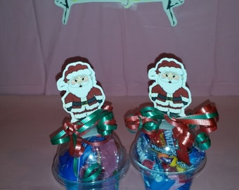 Santa Filled Candy Cups