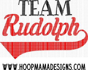 Team Rudolph SVG DXF eps and png Files for Cutting Machines Cameo or Cricut Christmas