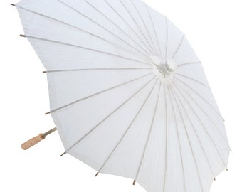 "32"" Paper Wedding Parasol Umbrella, Scallop Shape"
