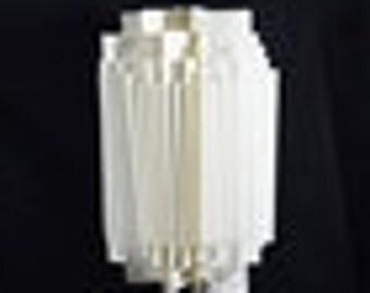 White Cylinder Geometrical Shaped Folding Paper Lantern Shade - 11UQ4-WH