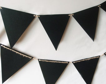 Chalkboard Sign Triangle Flag Pennant Banner Decoration (11FT) - 8FGBUNT-CKB