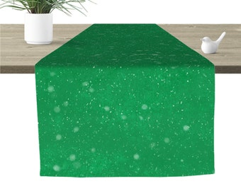 Snowfall Table Runner Green 16x90""