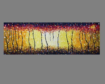 The Bush Fire Dream Aboriginal Art Painting Print Abstract Landscape Jane Crawford 90cm by 30cm Australia Artist