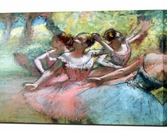 Degas Ballerinas Canvas Wall Art Print in 4 Sizes Ready to Hang