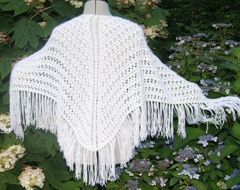 Summer Lovin' Shawl-White