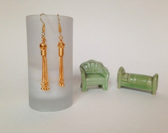 Tassel Earrings/Vermeil Turkish Tassel Earrings/GoldTassel Earrings