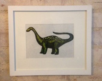 Original Diplodocus Dinosaur drawing