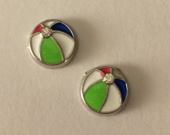 Beach Ball Stud Earrings - O48