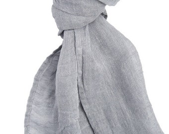 SPECIAL OFFER - Grey Linen Scarf, Eco Scarf, Natural Linen Scarf