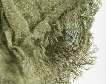 Linen Scarf, Eco Scarf, Moss Green Scarf, Scarf