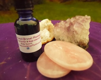 Sacred Breast Massage Collection: Crystal Infused Oil With Kustana Stones
