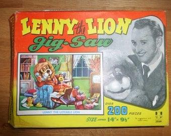 Vintage Lenny the Lion Jigsaw Puzzle