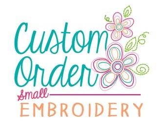 Small Custom Embroidery Design - Custom Digitized Artwork for Embroidery