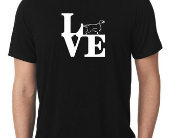 Love Gordon Setter T-Shirt park T816