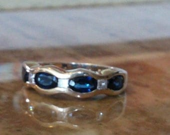 SALE***Sapphire and Diamond Band